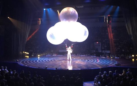 Ginormous balloons are part of an act that has to be seen to be believed at